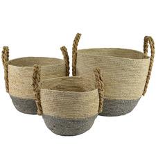 3 Piece Dipped Maize Basket Set