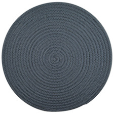 Geometric Woven Round Cotton Placemats (Set of 6)