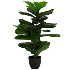 80cm Potted Faux Fiddle Leaf Tree