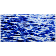 Blue Ripple Glass Wall Art