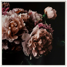 Peony Bouquet Framed Canvas Wall Art