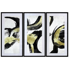 Black Pike Framed Printed Wall Art Triptych