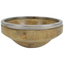 21cm Natural Wooden Serving Bowl