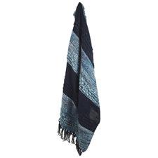 Navy Stripe Throw Rug