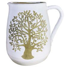 Tree of Life Decorative Ceramic Jug