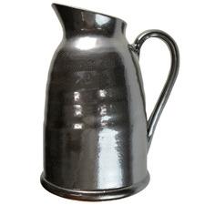 26cm Black & Silver Ceramic Decorative Pitcher