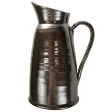 34cm Black & Silver Ceramic Decorative Pitcher
