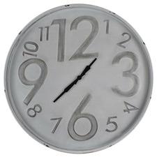 80cm Embossed Number Metal Wall Clock