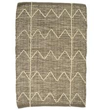 Taupe Akira Flat-Woven Cotton Rug
