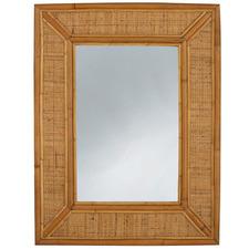 Honey Hampton Rattan Wall Mirror