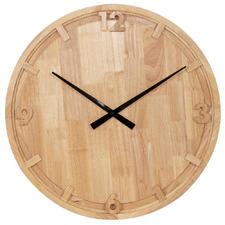 80cm Natural Ash Oak Wall Clock