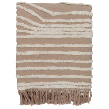 Brown Vargas Cotton-Blend Throw