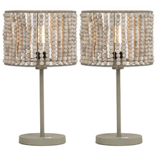 Miza Wooden Table Lamps (Set of 2)