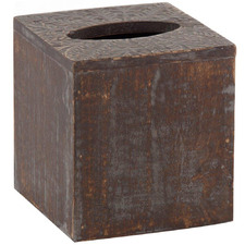 Grey Washed Square Anila Wood enTissue Box