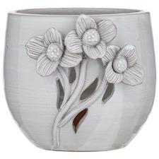 Vintage White Lille I Terracotta Pot Planter