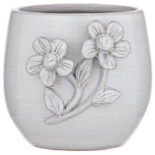 Vintage White Lille II Terracotta Pot Planter