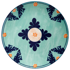 Teal Majolica 26.5cm Porcelain Dinner Plates (Set of 4)