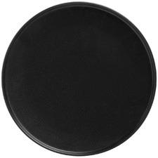 Black Caviar High Rim 26.5cm Porcelain Dinner Plates (Set of 4)