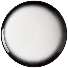 Granite Caviar 15cm Porcelain Coupe Dessert Plates (Set of 4)