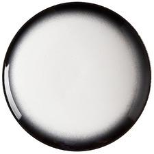 Granite Caviar 27cm Porcelain Coupe Dinner Plates (Set of 4)