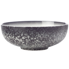 Granite Caviar 19cm Porcelain Coupe Bowls (Set of 4)