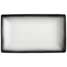 Granite Caviar 28cm Rectangular Porcelain Platters (Set of 4)
