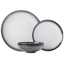 12 Piece Granite Caviar Porcelain Dinner Set