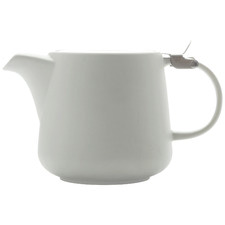 White Tint 600ml Porcelain Teapot with Infuser