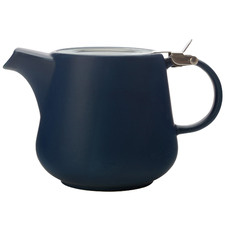 Navy Tint 600ml Porcelain Teapot with Infuser