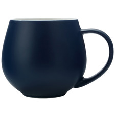 Navy Tint 450ml Porcelain Mugs (Set of 6)