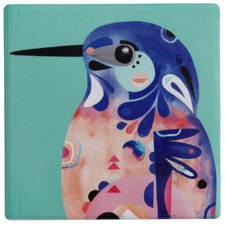 Azure Kingfisher by Pete Cromer Ceramic Coasters (Set of 6)