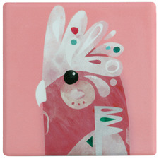 Galah by Pete Cromer Ceramic Coasters (Set of 6)