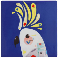 Cockatoo by Pete Cromer Ceramic Coasters (Set of 6)