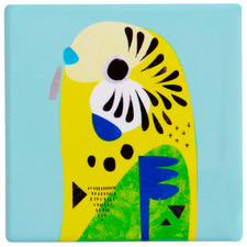 Budgerigar by Pete Cromer Ceramic Coasters (Set of 6)