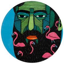 Flamingo Man by Mulga The Artist Ceramic Coasters (Set of 6)