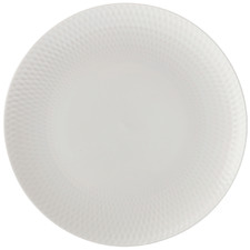 White Basics Diamonds 23cm Porcelain Entree Plates (Set of 6)