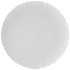 White Basics Diamonds 27cm Porcelain Dinner Plates (Set of 6)
