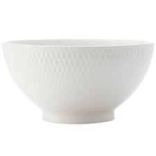 White Basics Diamonds 15cm Porcelain Rice Bowls (Set of 6)