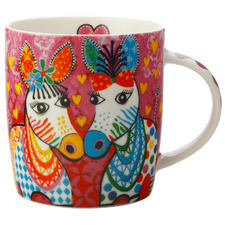 Zig Zag Zebras Love Hearts 370ml Porcelain Mug
