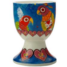 Rainbow Girls Love Hearts Porcelain Egg Cups (Set of 6)