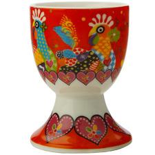 Chicken Dance Love Hearts Porcelain Egg Cups (Set of 6)