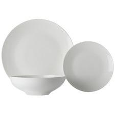 12 Piece White Basics Tribeca Coupe Dinner Set