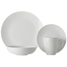 16 Piece White Basics Fitzrovia Coupe Dinner Set