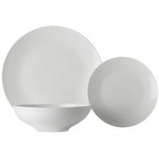 18 Piece White Basics Tribeca Coupe Dinner Set