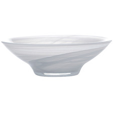 White Marblesque 13cm Glass Serving Bowls (Set of 6)