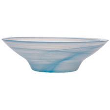Blue Marblesque 37cm Glass Serving Bowls (Set of 4)