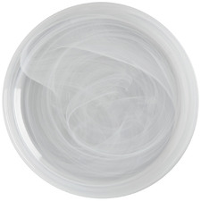 White Marblesque 18.5cm Glass Side Plates (Set of 6)