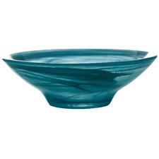 Teal Marblesque 13cm Glass Serving Bowls (Set of 6)
