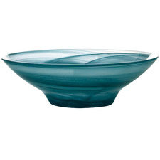 Teal Marblesque 19cm Glass Serving Bowls (Set of 6)