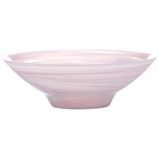 Pink Marblesque 32cm Glass Serving Bowls (Set of 4)